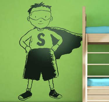 Wandtattoo Kinderzimmer Superheld