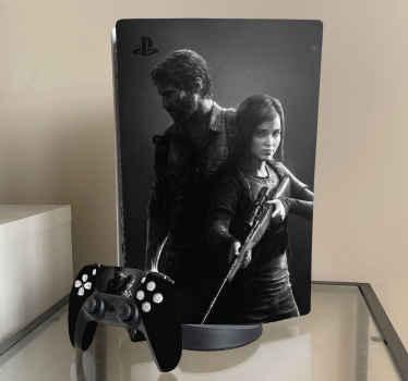 Personaliza tu consola y mando de PlayStation con este increíble vinilo ps5 del videojuego The Last of Us con dos jugadores ¡Envío exprés!