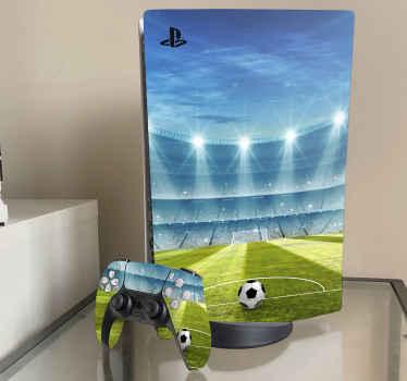 Skin ps5 de estadio de fútbol en 3d para decorar tu consola y el mando. Puedes elegir el modelo que deseas ¡Envío exprés!