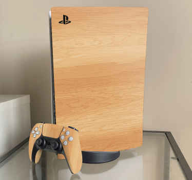 An original decorative wood texture PS5 vinyl decal made with realistic textural design. You would love this wrap on your video gaming console.