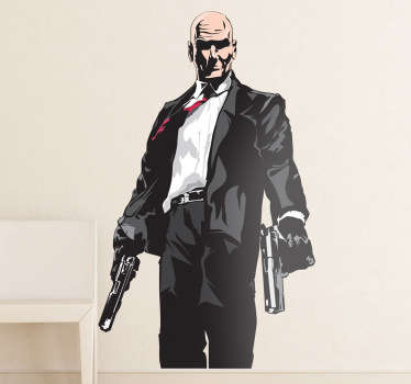 Sticker decorativo Hitman a colori