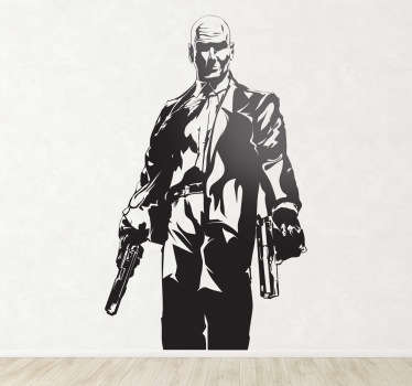 Sticker decorativo silhouette Hitman