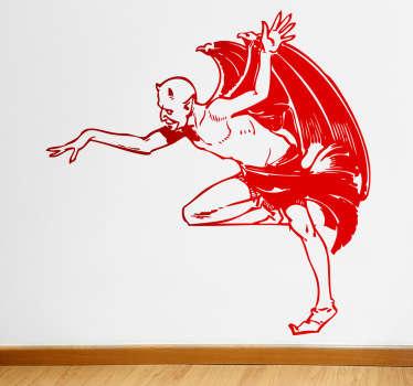 Lucifer Illustration Sticker