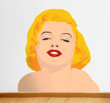 Adesivo murale busto Marilyn Monroe