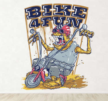 Wall Stickers - Illustration of a stranger riding a Harley Davison.