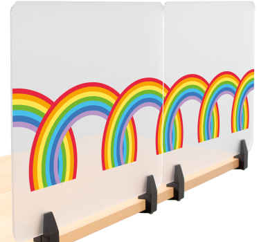 Sets of rainbow border window sticker for your home decoration. It can also be decorated on office, business space, etc.