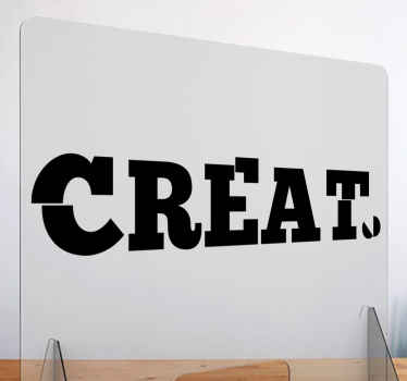 Simple motivation text decal  for office, business space and other space decoration. This can be applied on wall, furniture, window, glass door, etc.