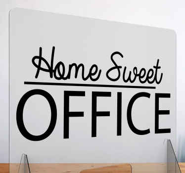 Home Sweet Office window decal - Lovely decal to decorate an office space, the colour is customizable, self adhesive and easy to apply.