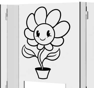 Smile sunflower window vinyl sticker - The product is self adhesive, durable, easy to apply and proof to wrinkle effect.