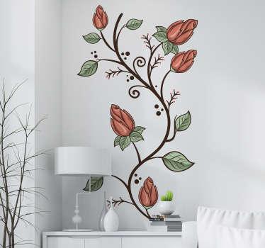 Adesivo decorativo fiori delicati