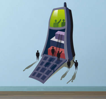 Mobiltelefon Business Aufkleber