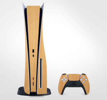 Beautiful and clean looking maple wood skin PS5 decorative sticker to wrap your gaming device in style. Produced with quality vinyl and easy to apply.