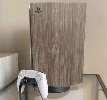 An Oak wood skin PS5vinyl wrap decal to completely wrap your gaming console in modern decorative style. Very easy to apply.