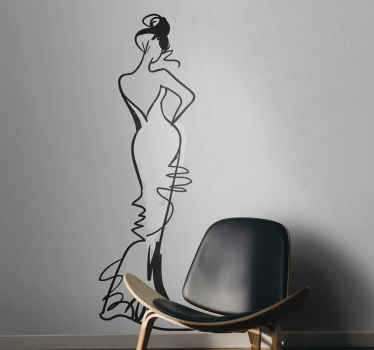 Full Body Female Wall Sticker
