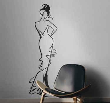 Wandtattoo sexy Frau Zeichnung