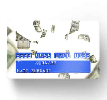 Vill ändra utseendet på ditt bankkort? Tja, vi fick dig täckt med vår fantastiska design med kreditkortsdekaler på hundra dollar.