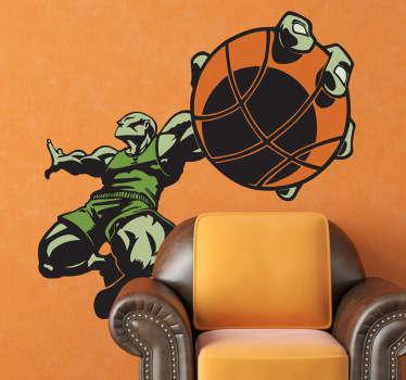 Naklejka dekoracyjna super zawodnik kosz