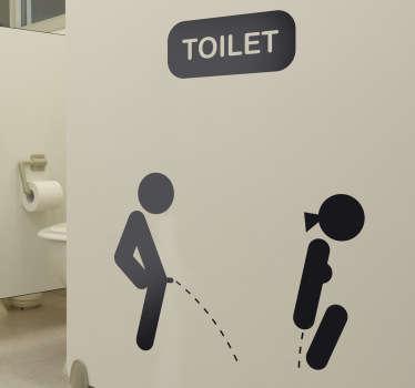 Toalett dekorativa klistermärke