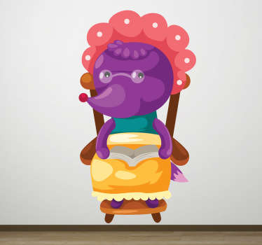 En stor ulv kids wall sticker