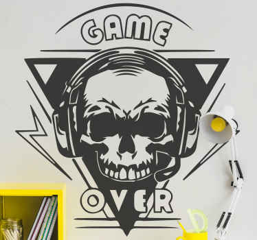 Black game dead skull PlayStation decal - The design looks scary and fierce and  would be a nice decoration for gamers who wants to show off.
