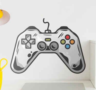 Lovely decorative PlayStation game pad decal that can be decorated on game room, bedroom, laptop and any other flat surface you desire.
