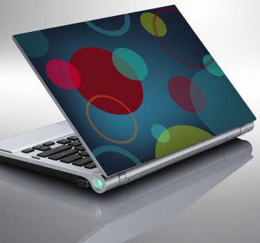 Kruhovým vzorem laptop nálepka