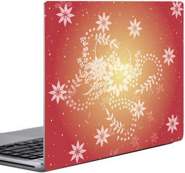 Naklejka na laptopa chińskie kwiaty