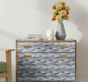 自宅やオフィスの家具スペースを、オリジナルの素敵な半透明のレンガの家具ステッカーで包みます。適用が簡単で耐久性があります。