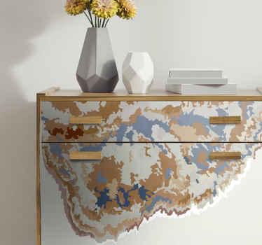あなたの家具の表面の外観を変えるための抽象的な水彩画の家具デカール。このデカールは、テーブル、ワードローブ、引き出し、食器棚などに適用できます。