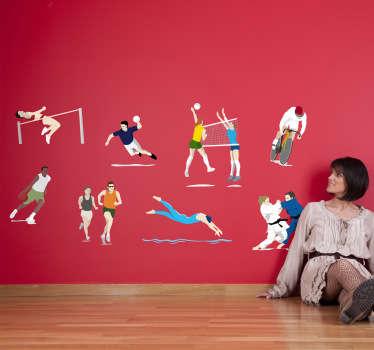 Sticker verschillende sporten