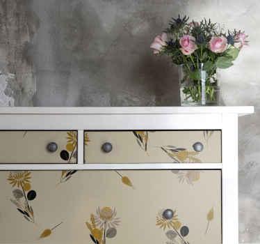あなたの家具スペースのためのビンテージ花家具デカール。リビングルームの家具の装飾、寝室、バスルームなどに最適です。