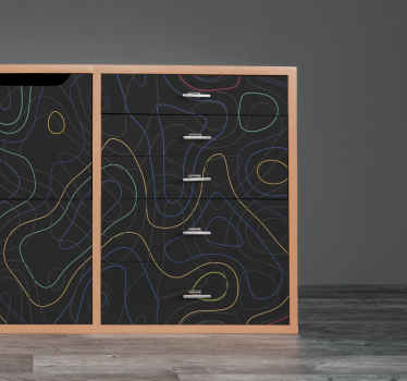 マルチカラーシェイプの家具デカール-家具スペースのエレガントなステッカー装飾。適用が簡単で、しわになりにくく、耐久性があります。