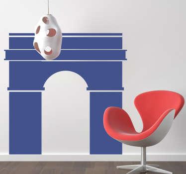 Sticker illustration Arc de Triomphe