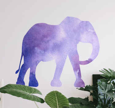 Customize any space in the home or other space with this abstract splash elephant decal and you would love the artistic look it presents on the space.