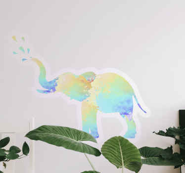 An amazing splash colour elephant sticker for your space decoration. This would look so cool on any space applied on and its easy to apply.