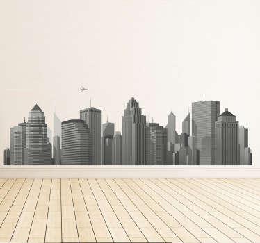 Großstadt Skyline Aufkleber