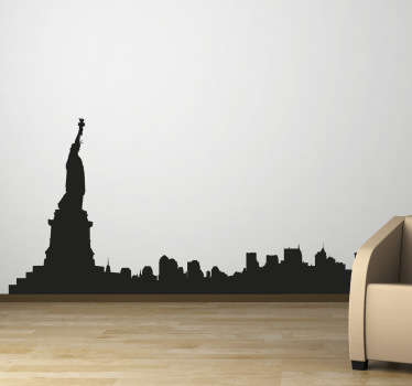 Spectacular skyline wall sticker illustrating the famous city and its landmarks. This New York wall sticker is for those that love the city and its architecture.
