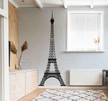 Vinilo decorativo Torre Eiffel perfil