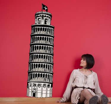 Sticker toren van Pisa