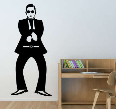 If you love that song, then this pop music sticker of a silhouette from the Gangnam Style singer is perfect for you. Extremely long-lasting material.