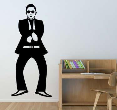 Naklejka na ścianę Gangnam Style