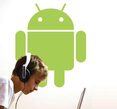 Naklejka na ścianę logo android