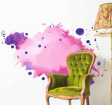 Customize your space with a colorful look and attention in our original abstract spotty color abstract wall sticker design.