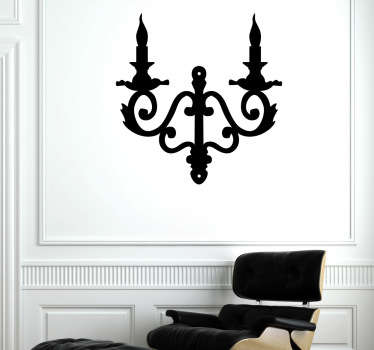 A superb Candelabra wall sticker illustrating an elegant candelabra to decorate the walls of your home. This candelabra decal is perfect to create an elegant atmosphere.