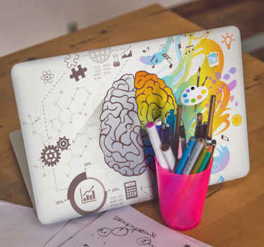 An artistic and rational brain laptop skins to wrap up your device in a lovely way. It is wrinkle proof, self adhesive and durable.