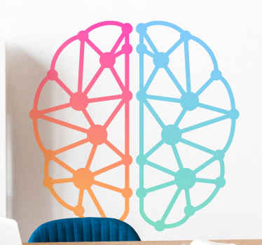 Multicolor brain office sticker - This also can be decorated on any other space be it in a house and anywhere else. It is easy to apply and durable.