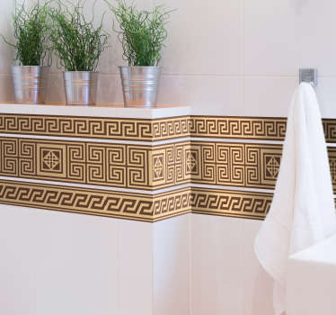 Border sticker with a detailed pattern that is ideal for decorating your home with an ancient Greek theme.