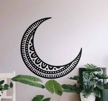 Crescent moon mandala style wall decal to customize your space. The design is lovely and would add a lovely look and attention on your space.