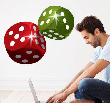Sticker decorativo dados de jogo