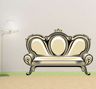 Vintage Sofa Retro Decal